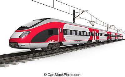 modernos, trem velocidade alto