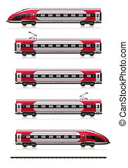 modernos, trem velocidade alto, jogo