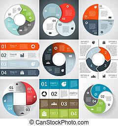 modernos, vetorial, info, gráfico, para, negócio, projeto