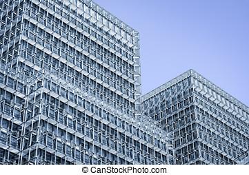 modernos, vidro, arquitetura, em, cidade, de, london.