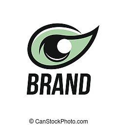 modernos, visão, logotipo, olho