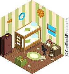 Modest student accommodation.