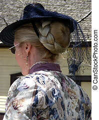 Modesty - Old fashioned lady in modest period dress
