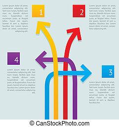 modi, frecce, infographics