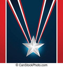 modieus, amerikaan, dag, onafhankelijkheid