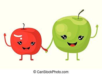 modieus, appeltjes , twee