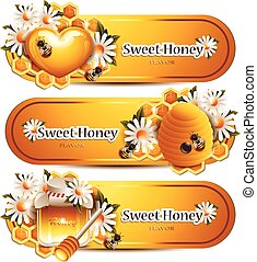 modieus, honing, banieren