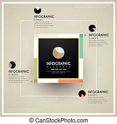 modieus, infographic, ontwerp