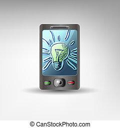 modieus, licht, idee, ontwerp, digitale , conceptueel, bol