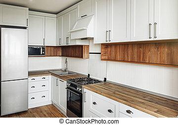 Keuken Interieur Scandinavisch : Minimalist zolder classieke houten keuken scandinavische
