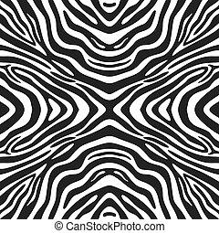 modieus, seamless, achtergrond, zebra
