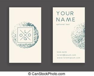 modieus, visitekaartje