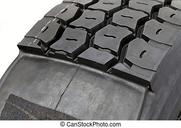 modifié, pneu, camion