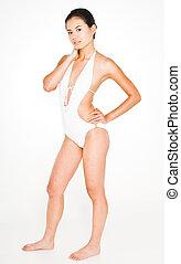 modifié tonalité, 5, bikini, corps