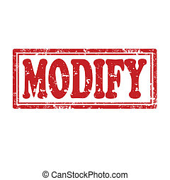 Modify-stamp - Grunge rubber stamp with word Modify,vector...