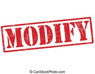 Modify grunge rubber stamp on white, vector illustration