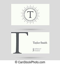 modny, handlowa karta, template.