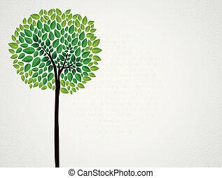 modny, pojęcie, drzewo, projektować