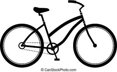modny, projektować, styl, rower, logo