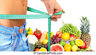 modo vivere sano, e, diet.