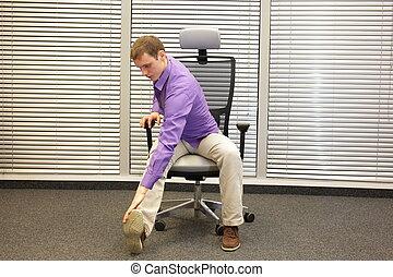 modo vivere sano, in, lavoro ufficio