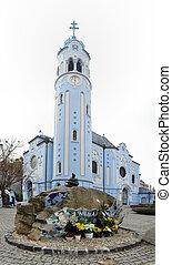 Modry kostolik - St Elisabeth church (known as Blue Church)...