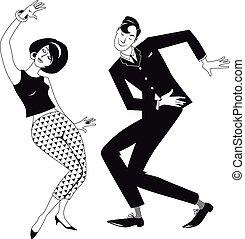 Mods dancing clip art