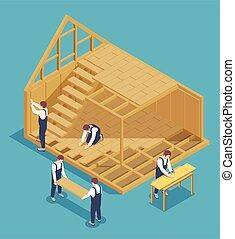 Modular House Construction Composition