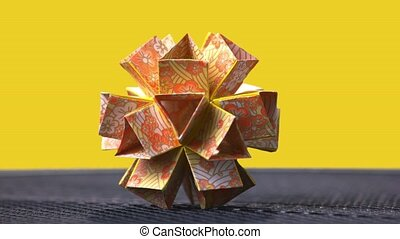 Modular patterned origami flower. Absolutely geometrical...