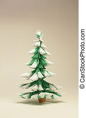 Module origami christmas tree