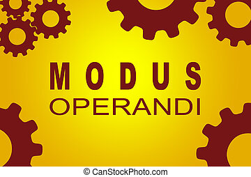 Modus Operandi concept