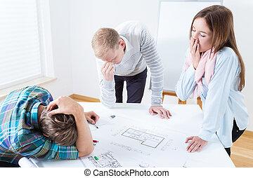 moe, architecten, op het werk