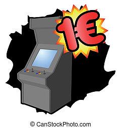 moeda, arcada, euro