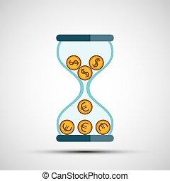 moeda corrente, icon., câmbio