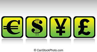 moeda corrente, jogo, ícone