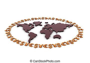 moeda corrente mundo