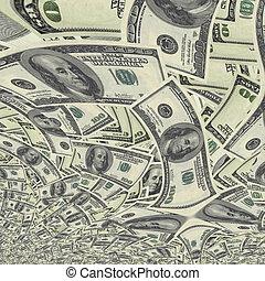 moeda corrente, nós, fundo