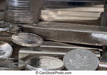moeda, maple prateado, canadense