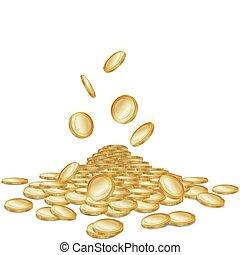 moedas cadentes