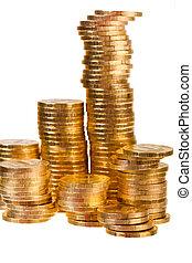 moedas, dourado