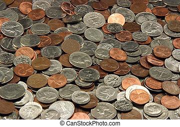 moedas, nós, sortido