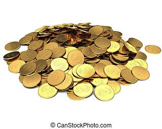 moedas, ouro