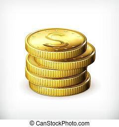 moedas, pilha