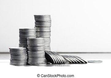 moedas, pilhas