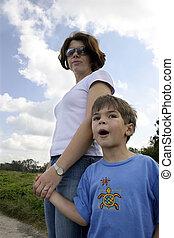 moeder en zoon