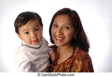 moeder, zoon