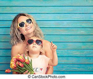 moederdag, lente, vakantie, concept