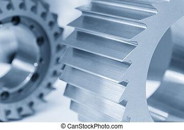 moendo, process.cutting, process., máquina, cnc, ferramenta, hobbing, cortador