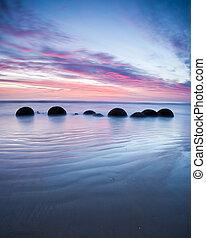 Moeraki Boulders at Sunrise South Island New Zealand