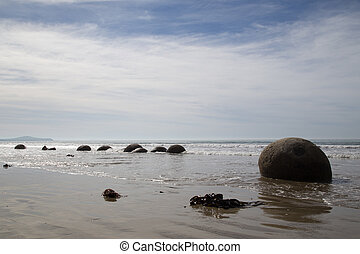 Moeraki Boulders in New Zealand